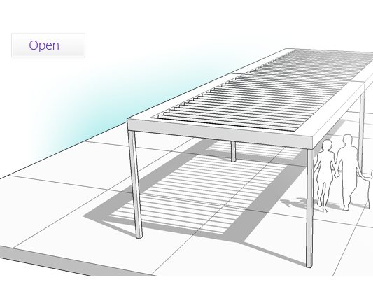 Vergola - Open Louvers